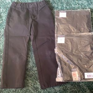 3 pair boys black pants 2 new in package size 5